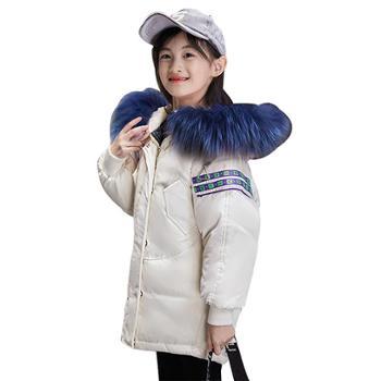童装儿童女童羽绒服中长款韩版中小童中大童 巴1916
