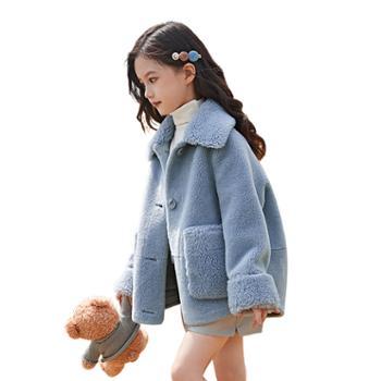 女童外套韩版儿童中大童女宝宝颗粒绒外套一K017