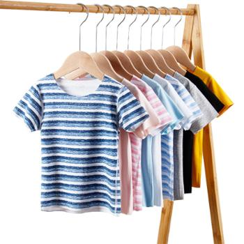 儿童无痕无骨缝制半袖 男女中小童莫代尔短袖夏季T恤