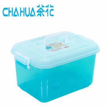 茶花收纳箱透明储物箱杂物整理箱8.5L