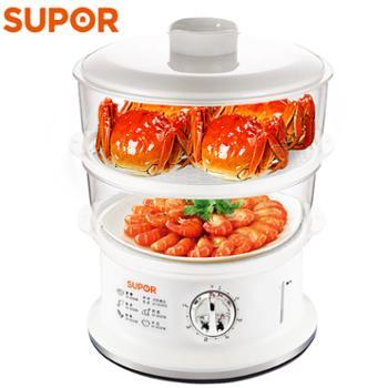 苏泊尔/Supor304不锈钢二层6升插电蒸锅食品级PP材质Z06YA3-S2