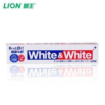 狮王/LION 日本进口WHITE&WHITE大白牙膏 150g单支