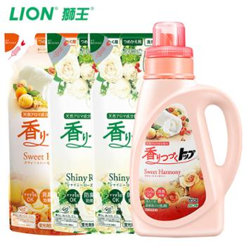 LION狮王进口TOP持久香氛柔顺洗衣液850g替换装720gX3
