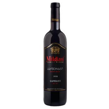 米尔迪阿尼格鲁吉亚原瓶进口米尔迪阿尼萨别拉维干红葡萄酒单支750ml