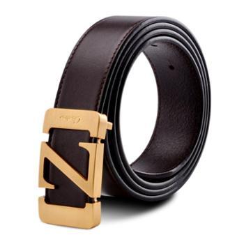 新款商务男士黑色腰带 头层牛皮真皮皮带FB02-7023支持分期