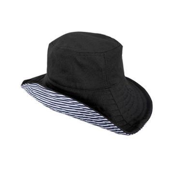 防晒帽大檐防紫外线双面可折叠渔夫盆帽女