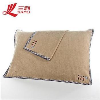 三利厂家直销特价纯棉加厚柔软纱布枕巾加大加厚对枕巾