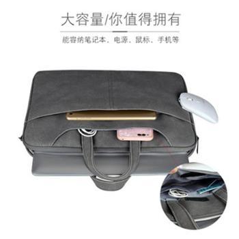 手提电脑包磨砂PU笔记本单肩包内胆包苹果联小想米