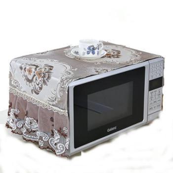 布艺欧式美的格兰仕微波炉罩子盖布烤箱套防油防尘帘厨房家用盖巾