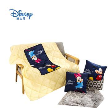 迪士尼/DISNEY3D幻彩抱枕被抱枕40x40cm展开110x150cm