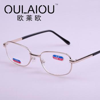 oulaiou/欧莱欧老花镜金属光学玻璃老花眼镜高清耐用中老年镜9035