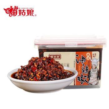 苗姑娘 贵州特色鱼肉油辣椒+风味肉丝泡椒组合装 380g*2盒