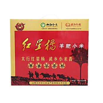 山西小米红星杨羊肥小米礼盒独立小包装5kg*10