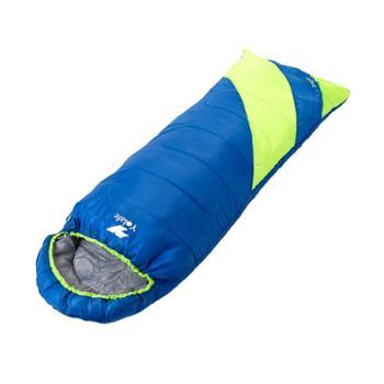 悠莱弗(YOLAFE)户外成人睡袋可拼接带帽信封冬季单人保暖旅行睡袋蓝绿色