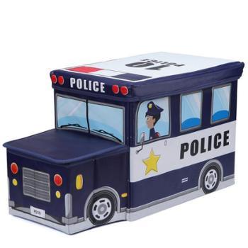 品之尚方形折叠儿童收纳凳收纳盒无纺布汽车储物凳子整理卡通玩具收纳箱