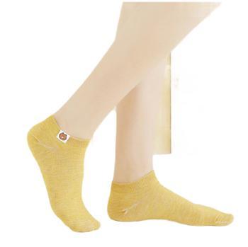 女士船袜纯色200针小熊定标女袜浅口隐形棉袜子