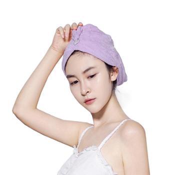 洁丽雅强吸水干发帽干发巾包头巾2个装
