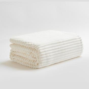 三利法兰绒加厚毛毯毛巾被午睡盖毯一条
