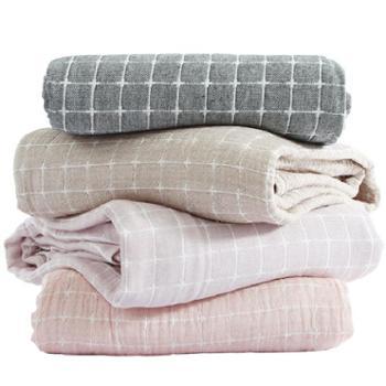 三利 夏凉被午睡毯空调被毛巾被毯子 纯棉 200cmx230cm