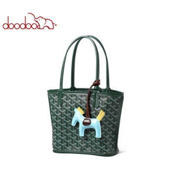 doodoo女包手提包包托特包单肩包子母包狗牙包D9231