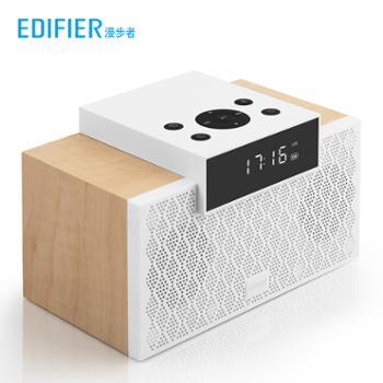 Edifier/漫步者M260无线蓝牙音响桌面电脑多媒体闹钟插卡迷你小型音箱超重低音炮家用木质便携式环绕大功率