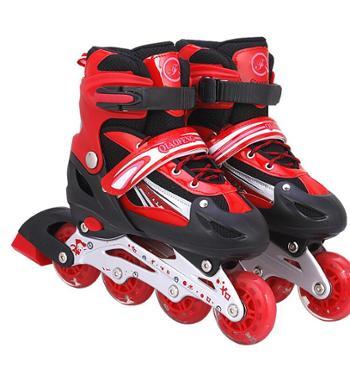侨丰PVC儿童溜冰鞋通用轮滑鞋成人速滑旱冰鞋