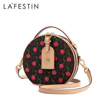 LaFestin/拉菲斯汀单肩斜挎女包小圆包樱桃圆饼包620733