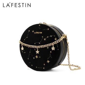 LaFestin/拉菲斯汀女包单肩斜挎小圆包620668
