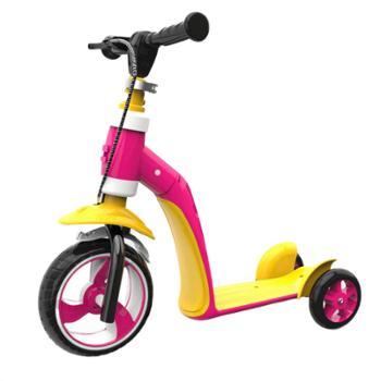 佰澜德儿童二合一滑板车2-3-5岁小孩可坐多功能三轮滑步车