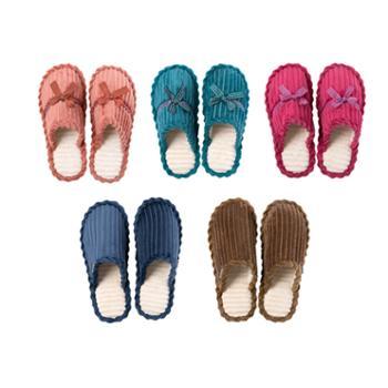安尚芬 灯芯绒棉拖鞋 秋冬居家防滑室内鞋