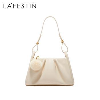 LaFestin/拉菲斯汀真皮女包单肩斜挎腋下包621057