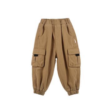 艾摩贝贝冬款韩版男女工装裤子加厚宽松