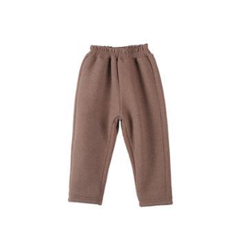 艾摩贝贝韩版男女童加厚一体绒裤子休闲