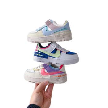 小迈步韩版男女童软底舒适运动鞋休闲板鞋