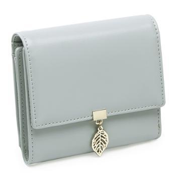 圣蒂梵女士短钱包防盗刷迷你三折式卡包零钱包