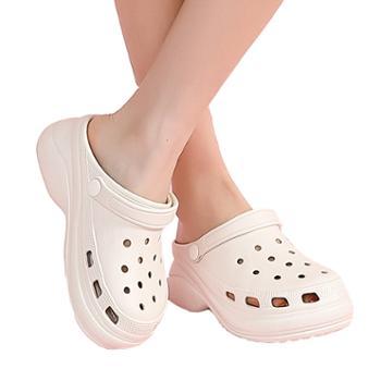 安尚芬女士洞洞鞋夏季包头拖鞋厚底女童凉鞋1185