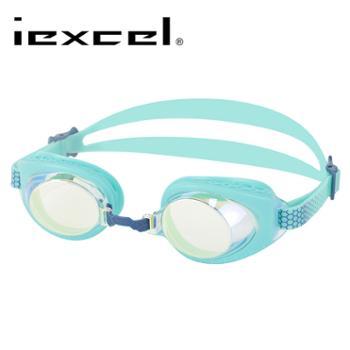 LANE4品牌近视电镀泳镜镀金水绿VX-957