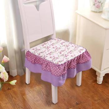 四季田园布艺椅垫坐垫绗缝椅垫椅套餐桌办公室椅子下摆凳子坐垫
