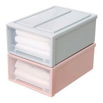 南北客透明抽屉式收纳盒衣物整理储物箱20升