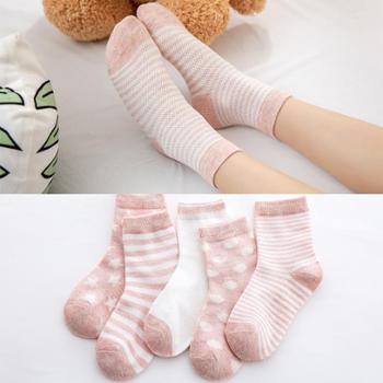 儿童袜子纯棉春秋薄款夏季网眼男童女童0-1-3-5-7-9岁婴儿宝宝袜