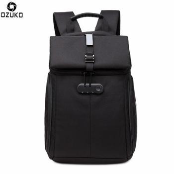 ozuko新款牛津布背包男创意时尚双肩电脑包