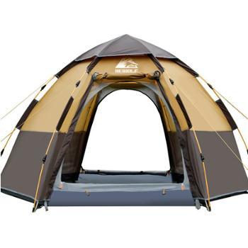 公狼户外六角34人多人全自动防雨帐篷