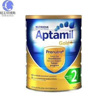 澳洲爱他美婴儿奶粉金装2段(6-12个月)900克/罐