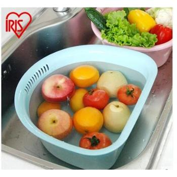 爱丽思IRIS 洗水果蔬菜塑料厨房菜筐盆 洗菜水果沥水篮盆 KA-36AG