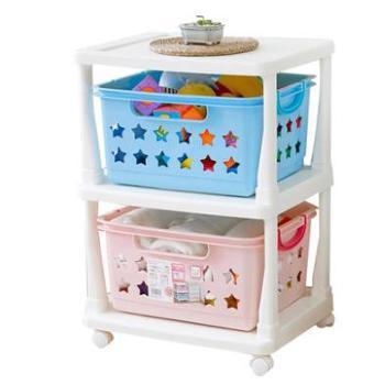 爱丽思IRIS 彩色多层儿童收纳筐储物架 KBR-020