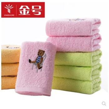 金号毛巾纯棉童巾小毛巾柔软吸水洗脸巾5条装