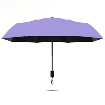 宝妮达 三折黑胶伞