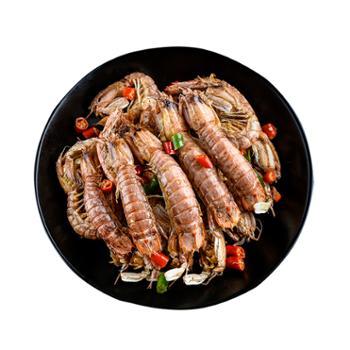 摩时渔鱼大籽椒盐味即食皮皮虾150克*5罐