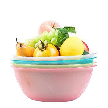 3件套茶花洗菜盆塑料水果盆创意圆形果蔬盆蔬菜盆厨房盆子搅拌盆小脸盆