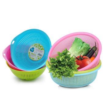 茶花沥水篮塑料厨房洗菜篮洗水果蔬菜篮筐多用淘菜盆滴水筛洗菜盆